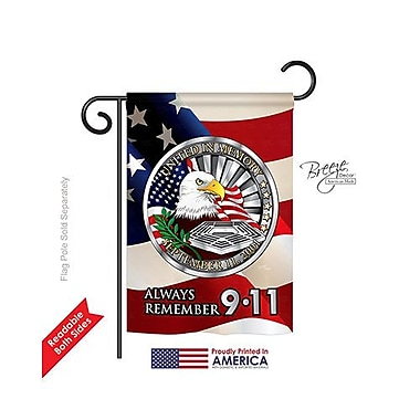 TwoGroupFlagCo Always Remember 9-11 2-Sided Vertical Flag; 18.5'' H x 13'' W