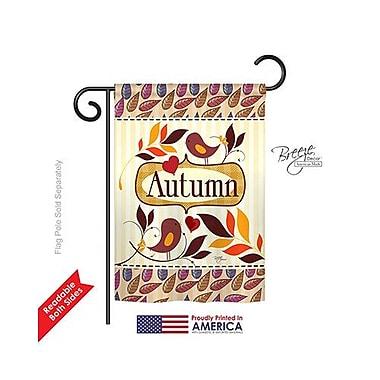 TwoGroupFlagCo Birds Autumn 2-Sided Vertical Flag; 40'' H x 28'' W