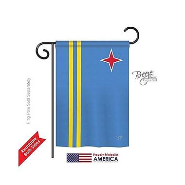 TwoGroupFlagCo Aruba 2-Sided Vertical Flag; 40'' H x 28'' W