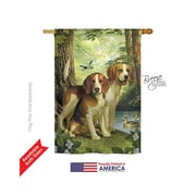 TwoGroupFlagCo Beagles and Duck 2-Sided Vertical Flag; 18.5'' H x 13'' W