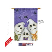 TwoGroupFlagCo 3 Ghosts 2-Sided Vertical Flag; 40'' H x 28'' W