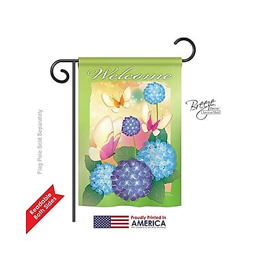 TwoGroupFlagCo Welcome Butterflies 2-Sided Vertical Flag; 18.5'' H x 13'' W