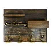 ArtisanalCreations Coat Hook Rack w/ Shelf and Mail Holder