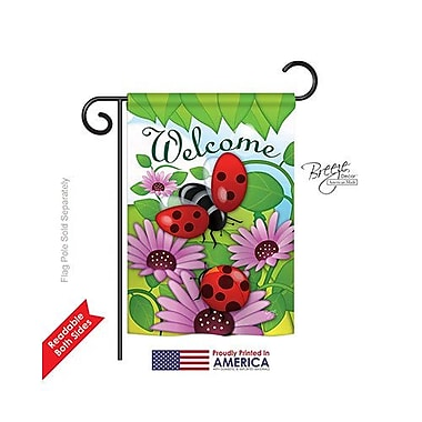 TwoGroupFlagCo Welcome Ladybug 2-Sided Vertical Flag; 18.5'' H x 13'' W