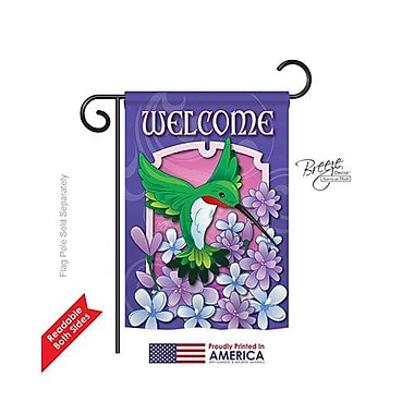 TwoGroupFlagCo Welcome Hummingbird 2-Sided Vertical Flag; 18.5'' H x 13'' W
