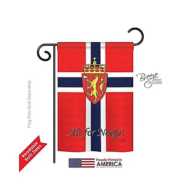 TwoGroupFlagCo Norway 2-Sided Vertical Flag; 18.5'' H x 13'' W