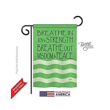 TwoGroupFlagCo Breathe In 2-Sided Vertical Flag; 18.5'' H x 13'' W