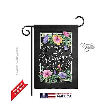 TwoGroupFlagCo Blooming Welcome 2-Sided Vertical Flag; 18.5'' H x 13'' W
