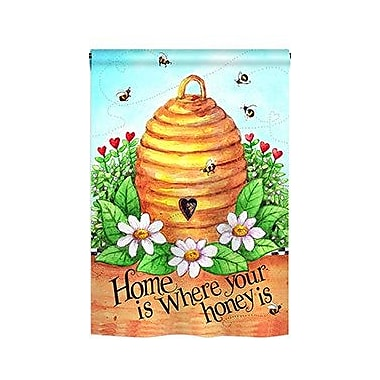 TwoGroupFlagCo Bee Hive Home 2-Sided Vertical Flag; 40'' H x 28'' W