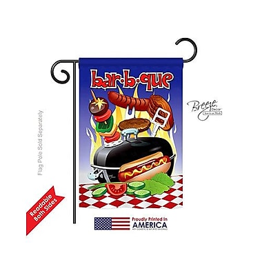 TwoGroupFlagCo Bar-B-Que 2-Sided Vertical Flag; 18.5'' H x 13'' W