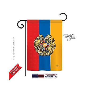 TwoGroupFlagCo Armenia 2-Sided Vertical Flag; 18.5'' H x 13'' W