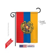 TwoGroupFlagCo Armenia 2-Sided Vertical Flag; 40'' H x 28'' W