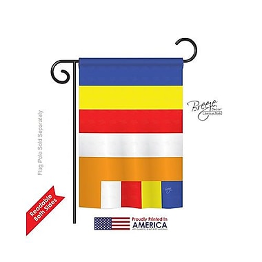 TwoGroupFlagCo Buddhist 2-Sided Vertical Flag; 18.5'' H x 13'' W