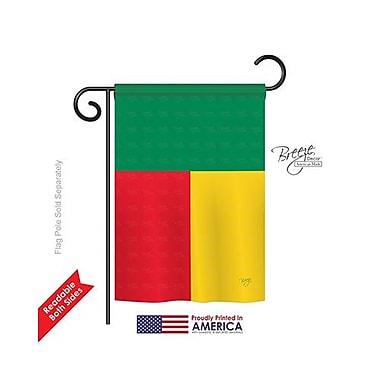 TwoGroupFlagCo Benin 2-Sided Vertical Flag; 40'' H x 28'' W