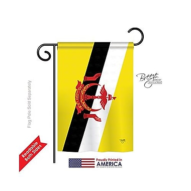 TwoGroupFlagCo Brunei 2-Sided Vertical Flag; 40'' H x 28'' W