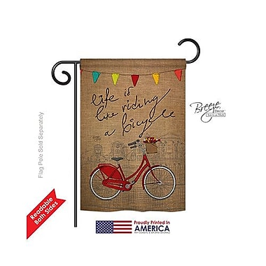 TwoGroupFlagCo Bicycle Life 2-Sided Vertical Flag; 40'' H x 28'' W