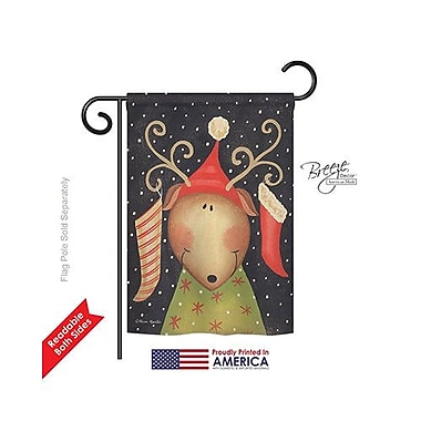 TwoGroupFlagCo Reindeer 2-Sided Vertical Flag; 40'' H x 28'' W