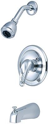 Olympia Faucets Single Lever Handle Tub and Shower Trim Set; Chrome