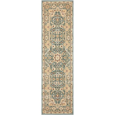 Kathy Ireland Home Gallery Antiquities Imperial Garden Slate Blue/Sage Area Rug; 9'10'' x 13'2''