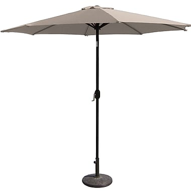 BudgeIndustries 9' Market Umbrella; Tan