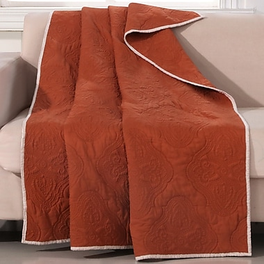 Barefoot Bungalow Cameo Throw; Rust