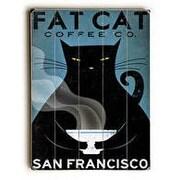 Red Barrel Studio Cat Coffee Graphic Art; 40'' H x 30'' W x 1'' D