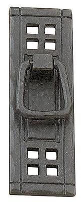 Richelieu 4 1/4'' Center Drop Handle; Matte Black Iron
