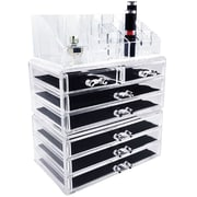 Ikee Design 3 Piece Jewelry and Cosmetic Storage Display Box Set
