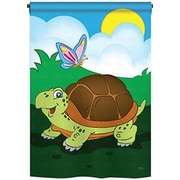 TwoGroupFlagCo Turtle 2-Sided Vertical Flag; 40'' H x 28'' W
