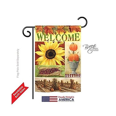 TwoGroupFlagCo Sunflower Collage 2-Sided Vertical Flag; 18.5'' H x 13'' W