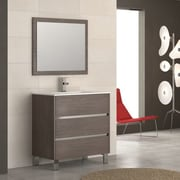 Eviva Escorpio  32'' Single Bathroom Vanity Set; Medium Oak