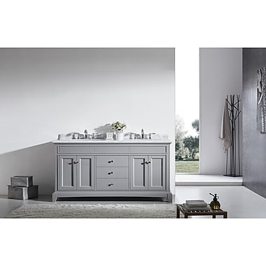 Eviva Elite Stamford 72'' Double Bathroom Vanity Set; Gray