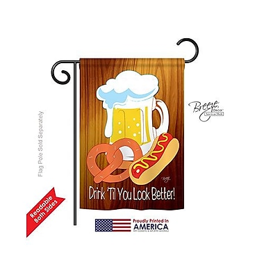 TwoGroupFlagCo Drink 'Til You Look Better 2-Sided Vertical Flag; 18.5'' H x 13'' W