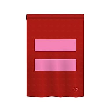 TwoGroupFlagCo Equality 2-Sided Vertical Flag; 40'' H x 28'' W