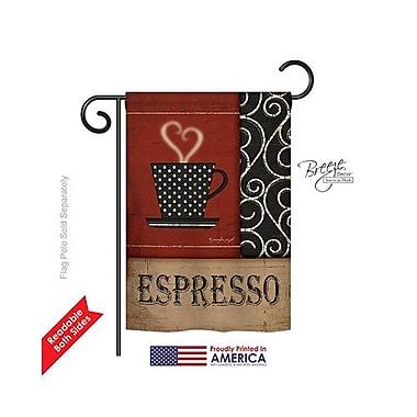 TwoGroupFlagCo Espresso 2-Sided Vertical Flag; 18.5'' H x 13'' W