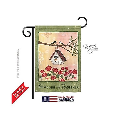 TwoGroupFlagCo Treasure Life Together 2-Sided Vertical Flag; 40'' H x 28'' W
