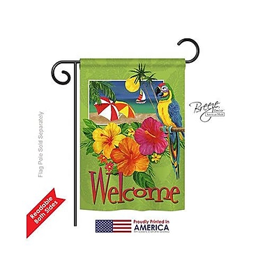 TwoGroupFlagCo Tropical Welcome 2-Sided Vertical Flag; 40'' H x 28'' W