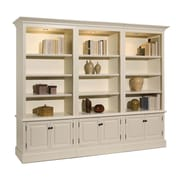 A&E Wood Designs French Restoration Brighton Open Display 86'' Standard Bookcase