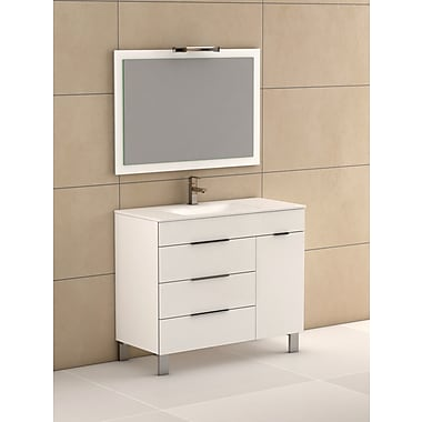 Eviva Geminis 39'' Single Bathroom Vanity Set; White