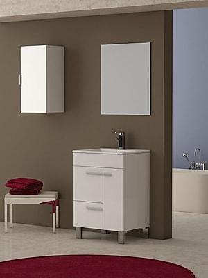 Eviva Cup 24'' Single Bathroom Vanity Set; White WYF078278187619