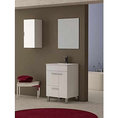 Eviva Cup 24'' Single Bathroom Vanity Set; White