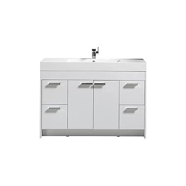 Orren Ellis Zuzanna 48'' Single Bathroom Vanity Set; White