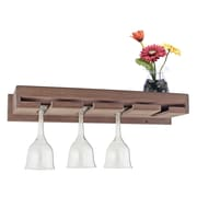 SeaTeak Wall Mounted Wine Glass Rack
