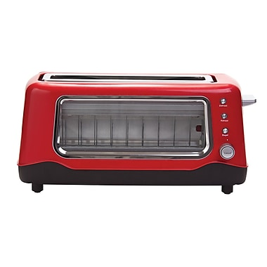 DASH Clear View Toaster; Red