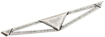 Richelieu Art Deco Appliance Pull; Old Silver WYF078278020789