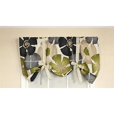 Red Barrel Studio Dodie Tie-up 50'' Curtain Valance; Gray