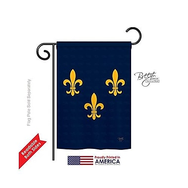 TwoGroupFlagCo Midwest French American 2-Sided Vertical Flag; 40'' H x 28'' W
