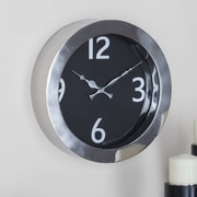 Cole & Grey Stainless Steel Round 12'' Wall Clock