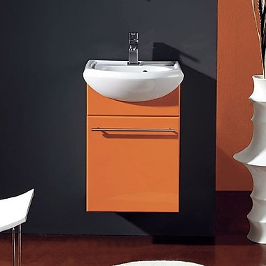 Eviva Venti 18'' Single Bathroom Vanity Set; Orange