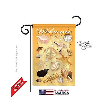 TwoGroupFlagCo Welcome Shells 2-Sided Vertical Flag; 40'' H x 28'' W